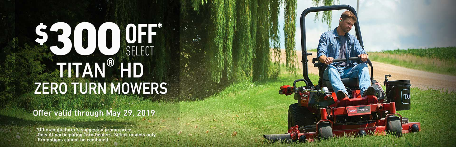 Toro: $300 Off Select Titan HD 1500 Zero Turn Mowers